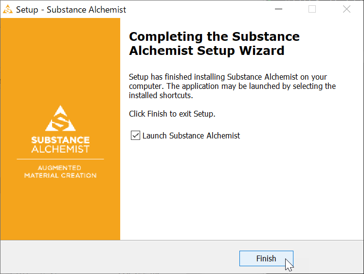 Substance Alchemistのインストール